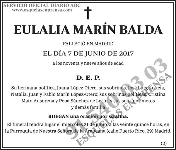 Eulalia Marín Balda